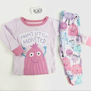 """Mom's little monster"" matching set"